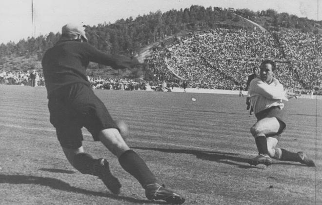 Debut de Zarra con la selección española (Foto: Archivo Marca)