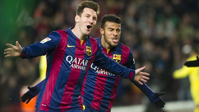 El alley oop de Messi, en imágenes