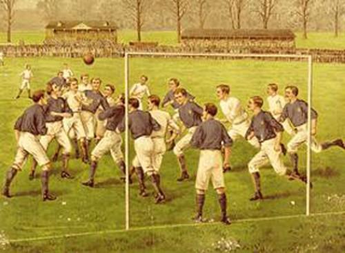 El primer partido Internacional de Futbol