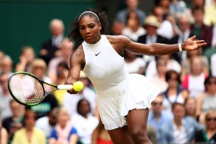 **** during the **** against **** on day twelve of the Wimbledon Lawn Tennis Championships at the All England Lawn Tennis and Croquet Club on July 9, 2016 in London, England.
